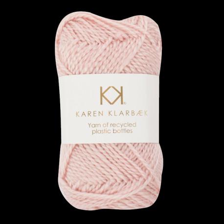 rose recycled bottle yarn