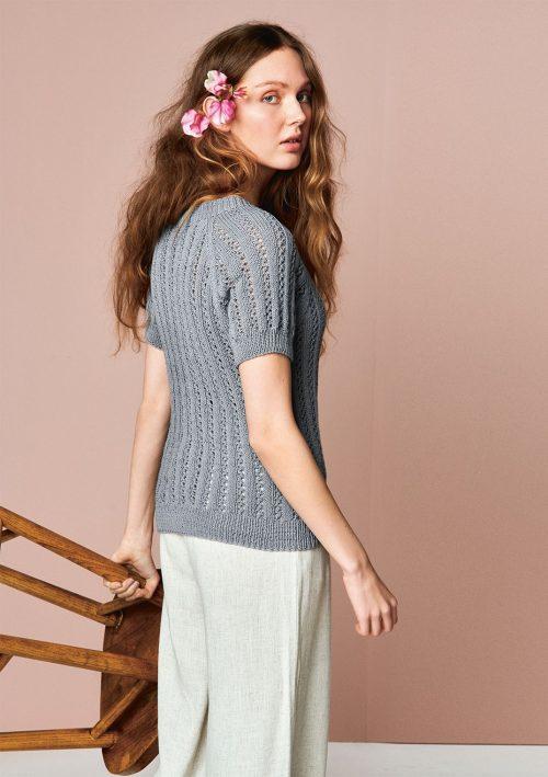 Lavendel T-skjorte Strikkekit