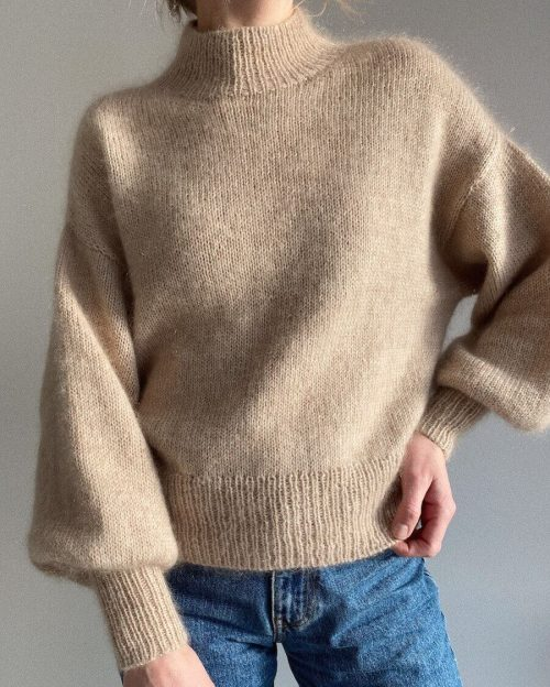 Ballonsweater Strikkekit